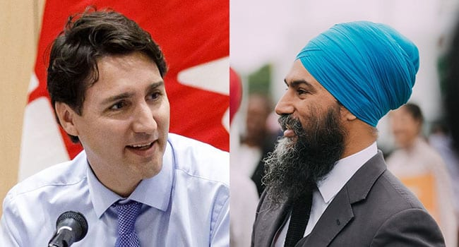 Coalition government could save Trudeau